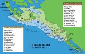 Tofino Canada Map.Best Beaches For Tofino B C Pictures Maps And Descriptions