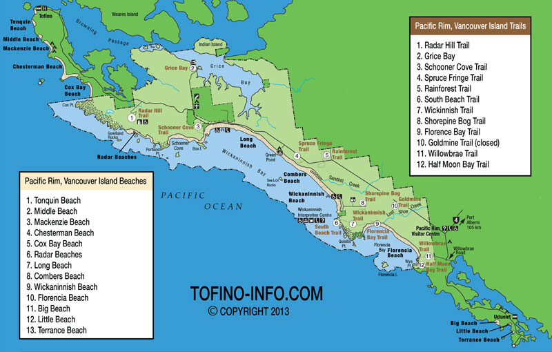Tofino Beaches Map Maps for Beaches in Tofino and Ucluelet, B.C.