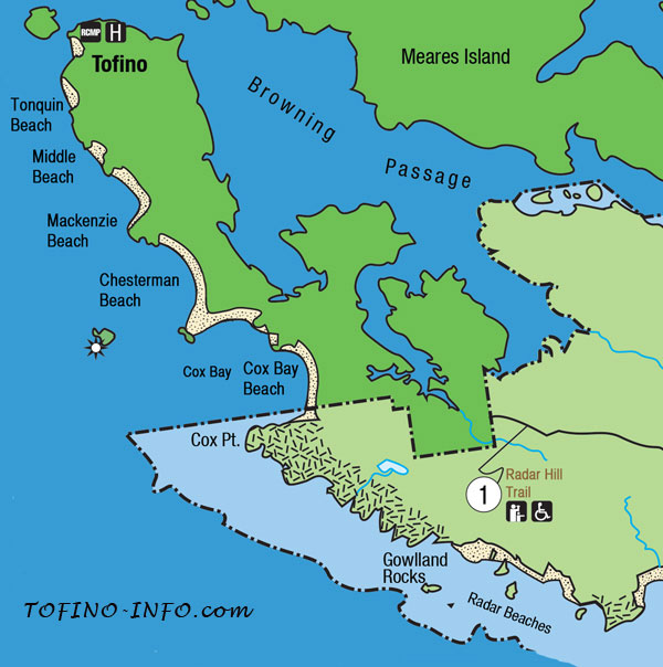 Map Of Tofino Maps for Beaches in Tofino and Ucluelet, B.C.